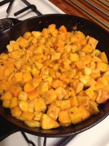 roasting cubed butternut squash