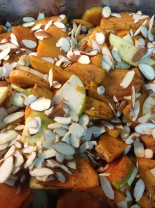 add almonds after apples
